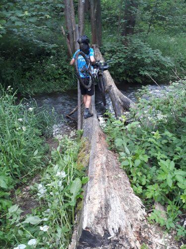 Klády přes Úterský potok